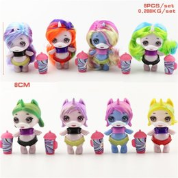 $enCountryForm.capitalKeyWord Australia - 8 Styles Set Surprise Unicorn Doll Toys 8cm PVC Unicorn Doll Cake Decoration Party Gift L281