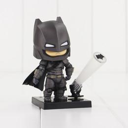 batman dark knight figure 2019 - 9cm Batman Justice Edition Action Figure Nendoroid 628 Batman The Dark Knight With Light of Batman Symbol Q Version Mode