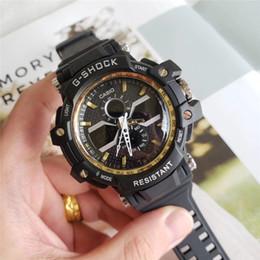 Men Digital Wrist Watches Australia - Men PRW Sports Electronic chronograph wristwatch ga 100 110 Men's g Watch Big Dial Digital waterproof LED male shock Wrist Watches