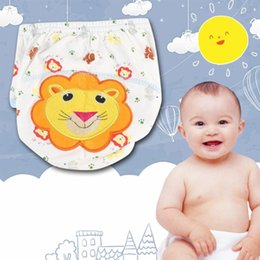 Discount hot girls diapers Boys Girls Babies Breathable Washable Cloth Wrap Diaper Underwear Pant 100% Hot New