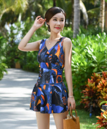 9d55fd23ce2b2 Conservative skirts online shopping - five Women s swimsuit covered belly  slim conservative one piece skirt