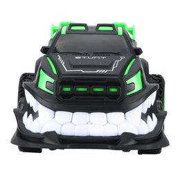 teeth gear NZ - 2019 New 85J 2.4G Special Effects 360 Degree Vertical Rotary Remote Control Vehicle Devil Big Tooth Off-Road Electric Model Toy