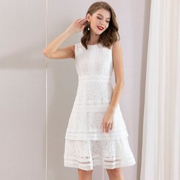 $enCountryForm.capitalKeyWord Australia - 2019 Summer Wear Lace Cake Dress A Pendulum Sleeveless Waist Shenzhen Suit-dress