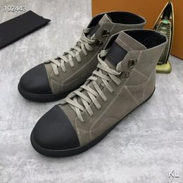 leather high Canada - France famous design High top womens Flats Genuine Leather Lace Up Casual Shoes Trend Luxury Platforms Denim Breathable women shoes-2