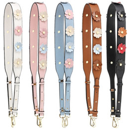 Hook Shoulder Strap Australia - Flower Leather Shoulder Strap You Replacement Women Girls Bag Handle Strap Belt Shoulder Bag Parts Accessories Buckle Belts S136