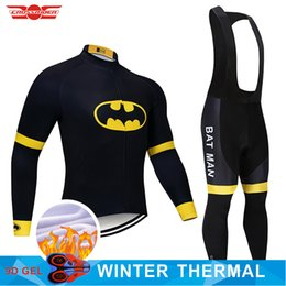 $enCountryForm.capitalKeyWord Australia - 2019 Batman Winter Cycling Jersey 9D Pants Set MTB Bicycle Clothing Mens Ropa Ciclismo Thermal Fleece Bike Jacket Cycling Wear