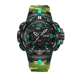 Weide Watch Men Military Australia - WEIDE Military fans tailored to create multi-functional high-quality camouflage sports watch development training 50 waterproof men
