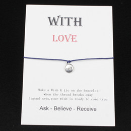 $enCountryForm.capitalKeyWord NZ - Valentine's Day present Make a Wish LOVE Charm Bracelets & Bangles for Women