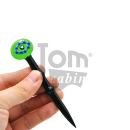 $enCountryForm.capitalKeyWord Australia - Newest Glass Dabber Tool 4.45 Inches Pen Dabber Tools Oil Wax Dab Tool with Quartz Bong Carb Cap For Pyrex Burner Glass Smoking Water Pipe