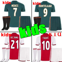 3ae2cce457f 2019 2020 Ajax FC Soccer Jerseys home kids kits away 19 20 Customized  7  NERES   10 TADIC  4 DE LIGT  22 ZIYECH Football Shirt