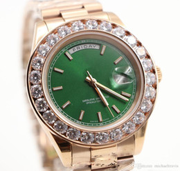 $enCountryForm.capitalKeyWord Australia - Free shipping watch men Day-Date automatic movement sapphire Diamonds watch Green face rose gold Stainless mens watches
