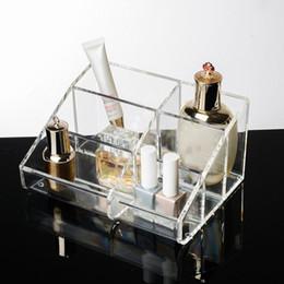 Box Jewelry Storage Organizer Black Australia - Fashion Jewelry Box Clear Makeup Organizer Acrylic Storage Box Cosmetic Organizer Makeup Storage Case Cosmetics Holder