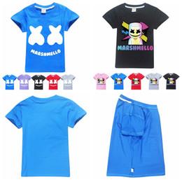 Kids Christmas Tees Australia - Marshmello T Shirt DJ Music printed Short Sleeves T-Shirts for Boys Kids Christmas Baby Girl Tops Tees clothes AAA1890
