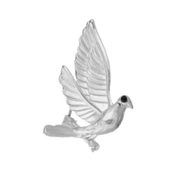 steel brooch UK - High Quality Charm Peace Dove Brooch Animal Wild Sweet Vintage Brooches For Women Fine Jewelry Brooch Pins b549