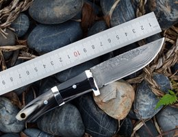 $enCountryForm.capitalKeyWord Australia - Damascus Steel Straight Knife, Mountaineering, Camping, Outdoor Multi-function Knife, Collection Gift Carry Tool