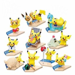 Gift sell online shopping - Best selling Detective Pikachu pvc Beach Pikachu dolls toys cartoon animals toys Furnishing articles decoration best Gifts