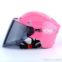 Half Helmets For Men Australia - Summer Nuoman316 Motorcycle Helmet Half Face ABS Motorbike Helmet Electric Safety Helmet For Women Men Casque De Moto