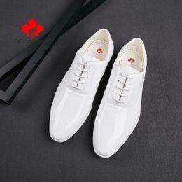 $enCountryForm.capitalKeyWord Australia - formal shoes Men 2019 Fashion Suits Shoes Male design wedding shoes Luxury White leather Business Brand Men's Dress