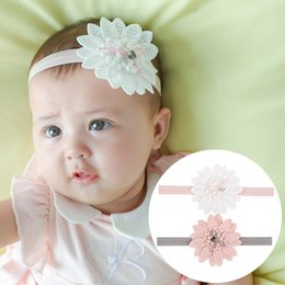 christmas headbands for infants Australia - Lovely Newborn Baby Big Flowers Headbands for Toddlers Girls Infant Lace Flower Hairbands Headdress Hair Accessories