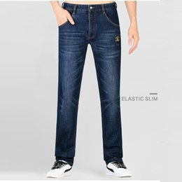 $enCountryForm.capitalKeyWord Australia - Bruce&Shark 2019 Jeans Men Fashion Casual High Quality Embroidery Straight leg Cotton heavyweight big SIZE 28 TO 42 8236