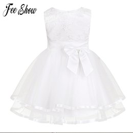 christening clothes for girls UK - New Baby Dress With Panties White Embroidery Lace Baby Girl Christening Gowns 1 Year Birthday Dress Baby Girls Clothes For 3-24m Y190516