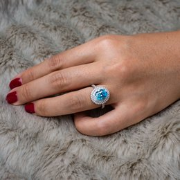 $enCountryForm.capitalKeyWord Australia - S925 Silver Elliptical Pigeon Egg Insert Diamond Retro Luxury Bricklike Double Layer Zircon MicroInsert Ring