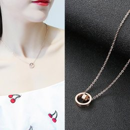 $enCountryForm.capitalKeyWord Australia - Luxury Jewelry Designer Single Dog Pendant Necklaces 316L Titanium Steel Rose Gold Brand Clavicle Chain Love Letter Necklace for Women