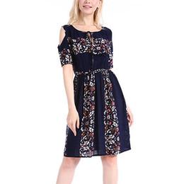 c4e152219ec Nice Summer Dress Women Floral Pattern O Neck Bohemian Beach Casual Dress  Vestido Summer Dresses Girls  505