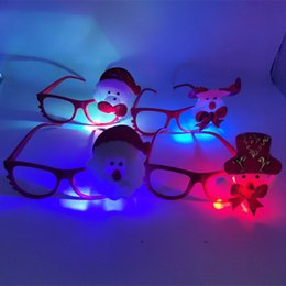 Christmas Ornament Flashing Australia - Christmas hot sale LED light glasses frame Christmas children cartoon flash glasses creative small gifts