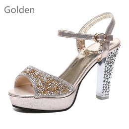 DiamonD strap high heel shoes online shopping - Special Hot Sales Fashion Women s Summer Sandals new style high heel casual snug shoes diamond Stiletto princess fish mouth waterproof shoes