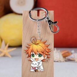 $enCountryForm.capitalKeyWord Australia - Anime The Promised Neverland Keychain Yakusoku No Neverland key ring Two-sided Acrylic Pendant Key Ring
