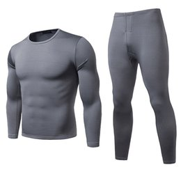 Toptan satış Kış Sıcak Termal İç Giyim Setleri Erkekler Marka Hızlı Kuru Anti-mikrobik Stretchy Erkekler Termo İç Giyim Erkek