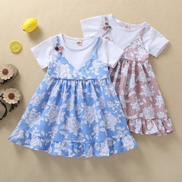 $enCountryForm.capitalKeyWord Australia - Toddler Baby kids dresses for girls floral Straps Floral Print Patchwork Dress Princess Casual SunDress porno meninas #y2*1