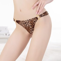 b922545710 Sexy Panties Leopard Print Clasp Pure Cotton G-String Lace Sexy Appeal  G-String Ladies Ultra Low Waist Thongs and G-strings