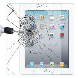 Venta al por mayor de Pantalla de cristal protector para el iPad 2 3 4 Premium vidrio templado de la película de Air iPad 2 Pro 0,4 mm 9,7 pulgadas