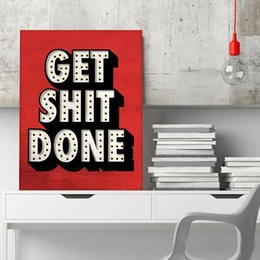 Wholesale got print for sale – custom Alec Monopoly quot GET SHIT DONE quot Home Decor Handpainted HD Print Oil Painting On Canvas Wall Art Canvas Painting office art culture