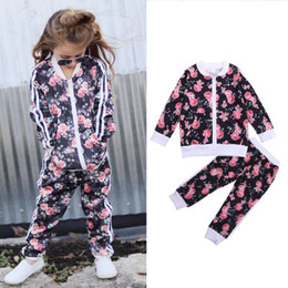 clothing boutique suits Australia - INS hot girls tracksuit casual children clothing autumn fashion leisure suit boutique clothing sexy design infant clothing toddler garments