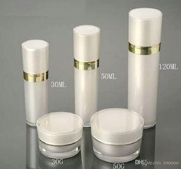 Acrylic Eye Cream Jar Australia - 30ml 50ml 120ml Acrylic Empty Sprayer Lotion Pump Perfume Bottle Refillable Lotion Fragrance Containers Bottles 15g 30g 50g Cream Jar