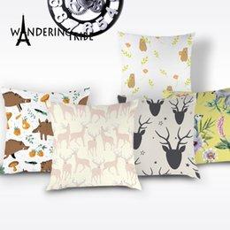 $enCountryForm.capitalKeyWord Australia - Cartoon Deer Pillow Case Cute Animals Cushion for Chair Children Decorative Pillows Elephant Cougar Bear Cushions Cover