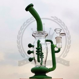 vortex oil glass NZ - Recycler Glass Bong Vortex Water Pipe Heady Bubbler Pipes Oil Wax Rig High quality Dab Rigs with Quartz Banger