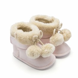 Wholesale Pretty Warm Baby Girl Boots Winter AntislipCotton Fleece Winter Shoes For Baby Boy Infant Toddler Walking Shoes Boy Boots DR7066