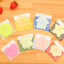 stars clouds NZ - 48 pcs Lot Super note Candy color Sticky notes Star cloud love stationery papelaria office material School supplies
