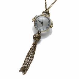 $enCountryForm.capitalKeyWord UK - CKKU Jewelry Fashion Ball Pocket Quartz Watch Antique Bronze Necklace Watch with 32 inch Chain for Women Girls Gift LPW580