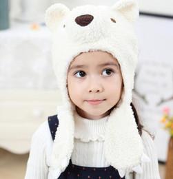7d6dc816b76 korean style cartoon animal bear warm beanie hat soft fleece baby windproof  earmuffs thick beanies kids skiing ski Bonnet beret cap