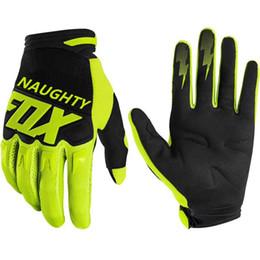 2020 Naughty Fox Motorcycle Перчатки DirtPAW Полный палец Велоспорт Перчатки Мотокросс Горный велосипед MTB MX Moto Racing Перчатки на Распродаже