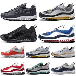 black running shoes for women NZ - Discount Running Shoes for men Women Gym Red sup-blue all White Triple Black Sneaker Trainer Sports Mens Athletic Runner Shoes size 36-45