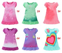 $enCountryForm.capitalKeyWord Australia - 2019 Hot Sale Kids Girls Summer Pajamas Dress Polyester Nightgowns Sleepwear Clothes Dresses Cute Style For Girls Gift Birthday Prensent