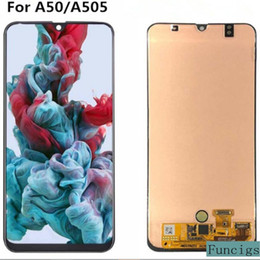 SamSung mobile lcd online shopping - Original Mobile Phone LCD Display Screen For Samsung Galaxy A50 A505 A505F Touch Panel Digitizer Assembly Frame Replacement