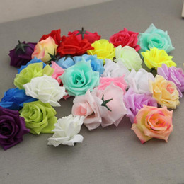 silk flower balls wholesale UK - Decorative Flowers Artificial Peony cheap Silk Rose heads can be made kissing balls Artificial Flowers Silk Camellia Rose head