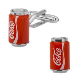 $enCountryForm.capitalKeyWord UK - Fashion Men Copper Cufflinks Metal Knots Red Coke Bottle Cufflink Cuff Link